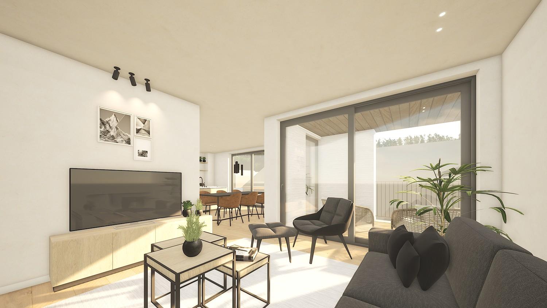 Licht en functioneel appartement (+/-79,00m²) met 2 slaapkamers en een zuidwest-georiënteerd terras (+/-9,3m²)! afbeelding 1